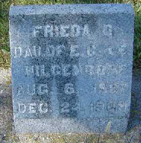 HILGENDORF, FRIEDA D. - Clayton County, Iowa   FRIEDA D. HILGENDORF