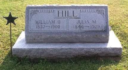 HOWARD HILL, JULIA M - Clayton County, Iowa | JULIA M HOWARD HILL