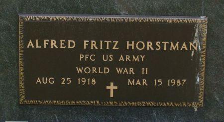 HORSTMAN, ALFRED FRITZ - Clayton County, Iowa   ALFRED FRITZ HORSTMAN