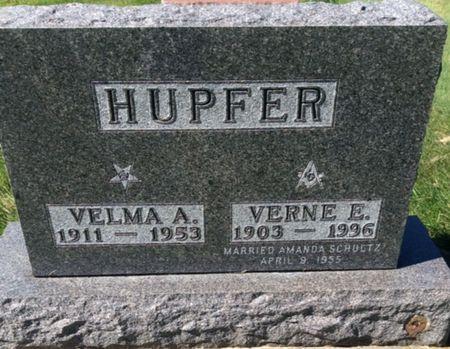HUPFER, VELMA A. - Clayton County, Iowa   VELMA A. HUPFER