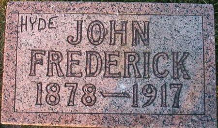 HYDE, JOHN FREDERICK - Clayton County, Iowa   JOHN FREDERICK HYDE