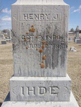 IHDE, HENRY J. - Clayton County, Iowa | HENRY J. IHDE