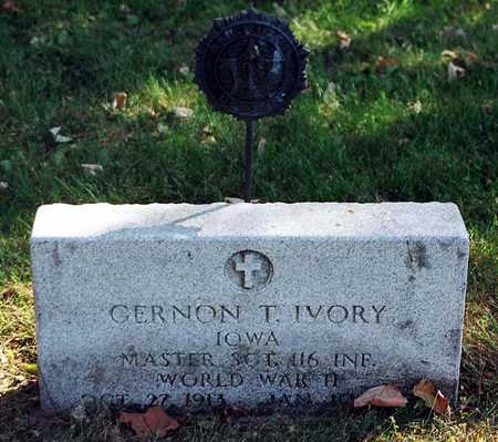 IVORY, GERNON T - Clayton County, Iowa   GERNON T IVORY