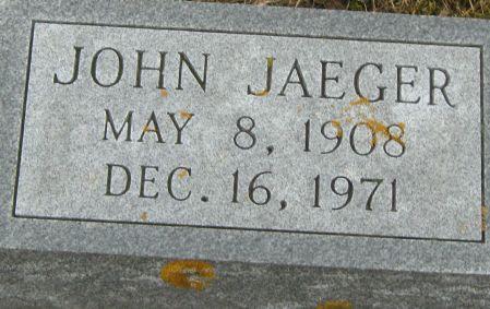 JAEGER, JOHN - Clayton County, Iowa   JOHN JAEGER