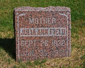 HILL FIELD, JULIA ANN - Clayton County, Iowa   JULIA ANN HILL FIELD