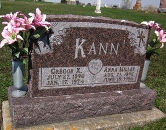 MILLER KANN, ANNA - Clayton County, Iowa | ANNA MILLER KANN