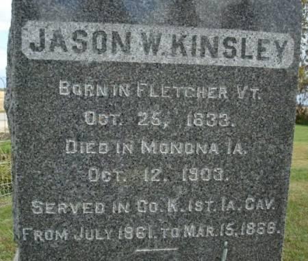 KINSLEY, JASON W. - Clayton County, Iowa   JASON W. KINSLEY