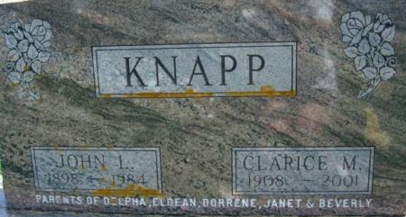 KNAPP, JOHN L. - Clayton County, Iowa | JOHN L. KNAPP