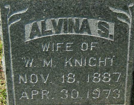 JENNERJOHN KNIGHT, ALVINA S. - Clayton County, Iowa | ALVINA S. JENNERJOHN KNIGHT
