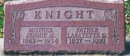 KNIGHT, JENNIE MAY - Clayton County, Iowa   JENNIE MAY KNIGHT
