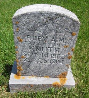 KNUTH, RUBY A. M. - Clayton County, Iowa | RUBY A. M. KNUTH