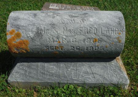 LAHRS, IRMA - Clayton County, Iowa | IRMA LAHRS