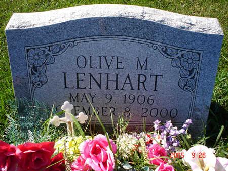 LENHART, OLIVE M. - Clayton County, Iowa   OLIVE M. LENHART