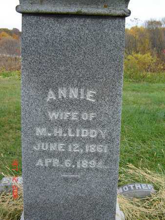 LIDDY, ANNIE - Clayton County, Iowa   ANNIE LIDDY