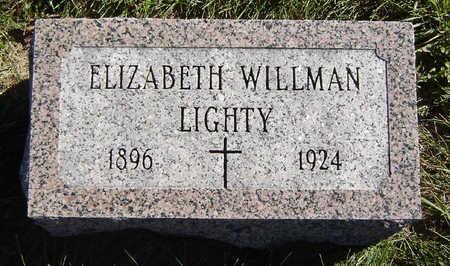 WILLMAN LIGHTY, ELIZABETH - Clayton County, Iowa | ELIZABETH WILLMAN LIGHTY