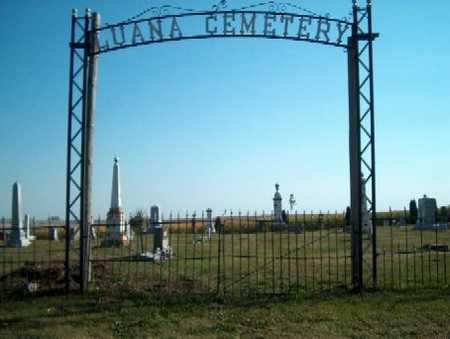 LUANA (RURAL), CEMETERY - Clayton County, Iowa | CEMETERY LUANA (RURAL)