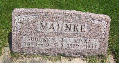 MAHNKE, AUGUST F. - Clayton County, Iowa   AUGUST F. MAHNKE