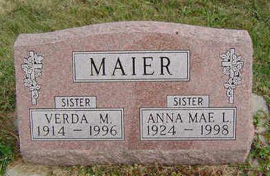 MAIER, ANNA MAE L. - Clayton County, Iowa | ANNA MAE L. MAIER