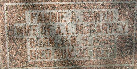 SMITH MCGARVEY, FANNIE A. - Clayton County, Iowa | FANNIE A. SMITH MCGARVEY