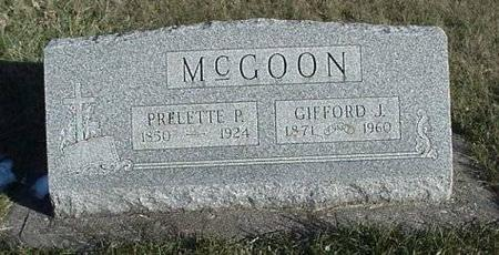 MCGOON, PRELETTE P. AND GIFFORD J. - Clayton County, Iowa | PRELETTE P. AND GIFFORD J. MCGOON