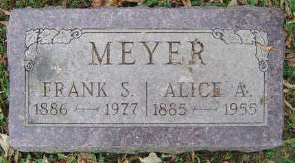 MEYER, ALICE A. - Clayton County, Iowa | ALICE A. MEYER