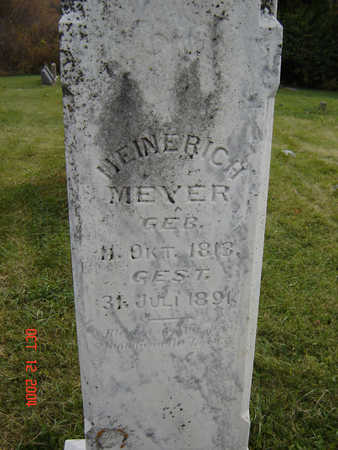 MEYER, HEINERICH - Clayton County, Iowa   HEINERICH MEYER