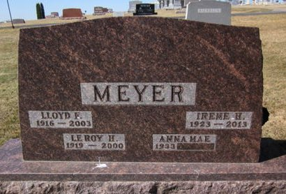 MEYER, LEROY HENRY - Clayton County, Iowa   LEROY HENRY MEYER