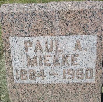 MIELKE, PAUL A. - Clayton County, Iowa   PAUL A. MIELKE