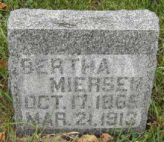 MIERSEN, BERTHA - Clayton County, Iowa | BERTHA MIERSEN
