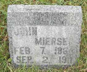 MIERSEN, JOHN - Clayton County, Iowa   JOHN MIERSEN