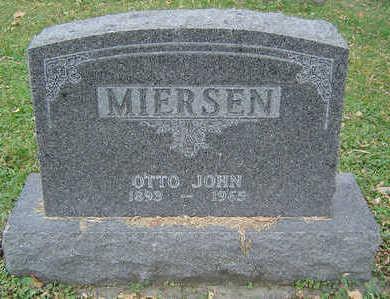 MIERSON, OTTO JOHN - Clayton County, Iowa   OTTO JOHN MIERSON