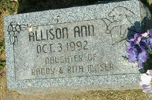 MOSER, ALLISON ANN - Clayton County, Iowa   ALLISON ANN MOSER