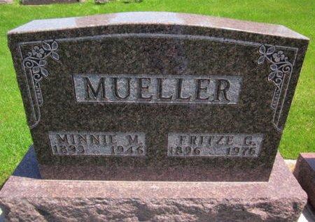 MUELLER, MINNIE M. - Clayton County, Iowa   MINNIE M. MUELLER
