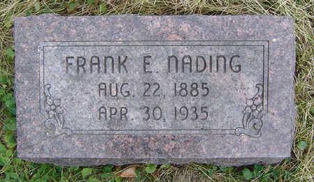 NADING, FRANK E. - Clayton County, Iowa   FRANK E. NADING