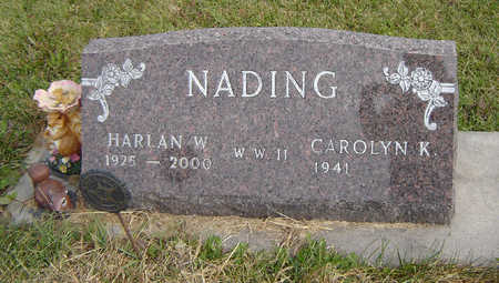 NADING, HARLAN W. - Clayton County, Iowa   HARLAN W. NADING
