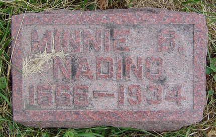 NADING, MINNIE B. - Clayton County, Iowa | MINNIE B. NADING