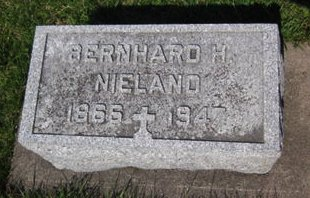 NIELAND, BERNHARD H. - Clayton County, Iowa | BERNHARD H. NIELAND