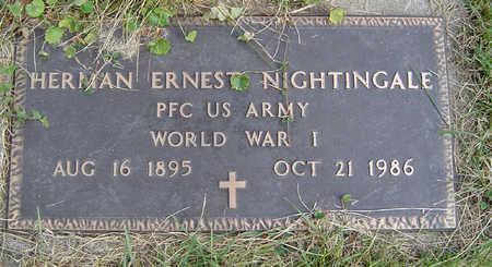 NIGHTINGALE, HERMAN ERNEST - Clayton County, Iowa | HERMAN ERNEST NIGHTINGALE