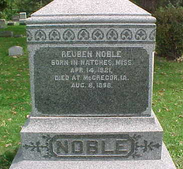 NOBLE, REUBEN - Clayton County, Iowa | REUBEN NOBLE
