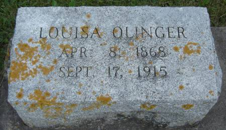 OLINGER, LOUISA - Clayton County, Iowa | LOUISA OLINGER
