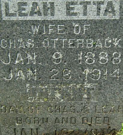 OTTERBACK, LEAH ETTA - Clayton County, Iowa | LEAH ETTA OTTERBACK