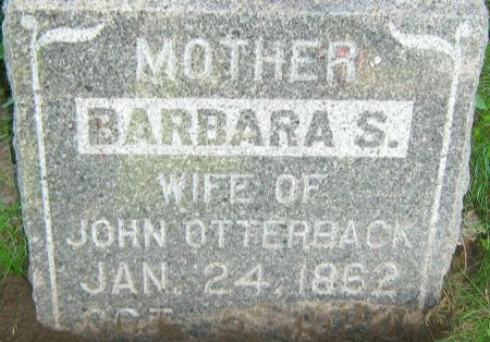 OTTERBACK, BARBARA 'SUSANNAH' - Clayton County, Iowa | BARBARA 'SUSANNAH' OTTERBACK
