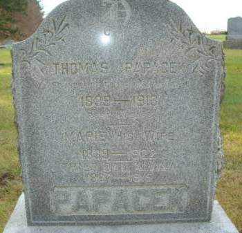 PAPACEK, THOMAS - Clayton County, Iowa | THOMAS PAPACEK