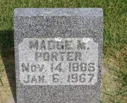 PORTER, MADGE M. - Clayton County, Iowa | MADGE M. PORTER
