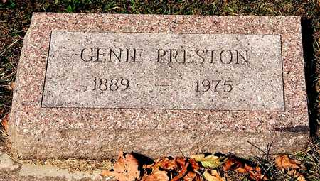 PRESTON, GENIE - Clayton County, Iowa   GENIE PRESTON