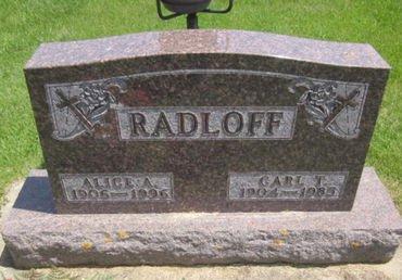 RADLOFF, ALICE A. - Clayton County, Iowa | ALICE A. RADLOFF