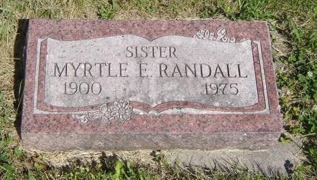 RANDALL, MYRTLE E. - Clayton County, Iowa | MYRTLE E. RANDALL