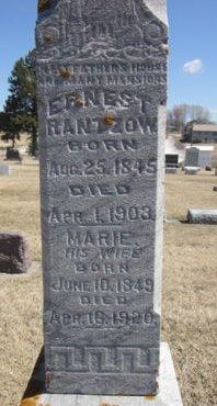 RANTZOW, MARIE - Clayton County, Iowa   MARIE RANTZOW