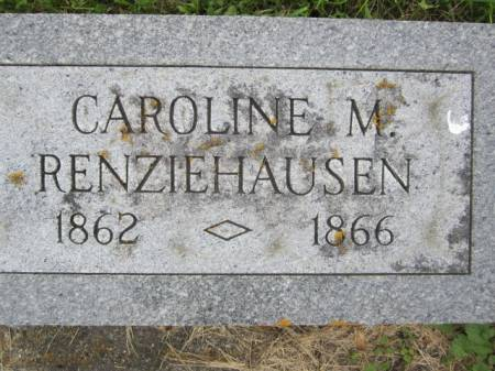 RENZIEHAUSEN, CAROLINE M. - Clayton County, Iowa   CAROLINE M. RENZIEHAUSEN