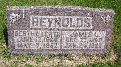 LENTH REYNOLDS, BERTHA - Clayton County, Iowa | BERTHA LENTH REYNOLDS
